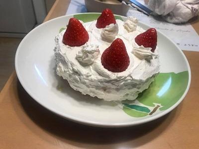 手作りショートケーキ